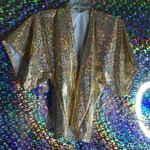 Shiny kimono! Made by me! One size fits most!